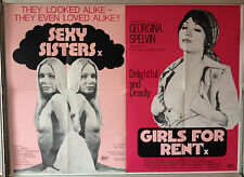 Cinema Poster: SEXY SISTERS/GIRLS FOR RENT 1977 (Double Bill Quad) Susie Ewing