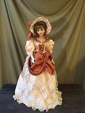 Beautiful 21 inch Victorian porcelain doll. FREE SHIPPING!
