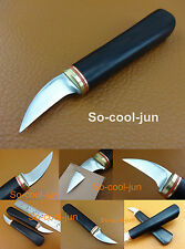 1pc Leathercraft Swiss High Speed Steel Cocobolo Handle Skiver Trim Knife Cutter