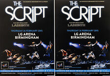 4 X THE SCRIPT BIRMINGHAM CONCERT FLYERS - NO SOUND WITHOUT SILENCE - LABRINTH