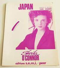 Partition vintage sheet music SHEILA O'CONNOR : Japan * 80's Yann SCHUBERT