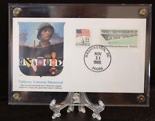 #2109 VETERANS DAY  EVENT COVER.in archive safe lucite holder FREE SHIP +