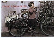 Ansichtskarte: Der größte Wunsch: Mädchen mit Fahrrad unterm Weihnachtsbaum