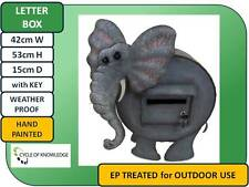 Novely Letter Box; Elephant; Hand painted; Lockable; Treated; 42cm x 53cm