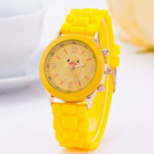Duckling Duck Bird Rubber Duckie Dial Yellow Silicone Rubber Unisex Wrist Watch