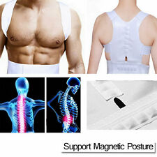 Magnetic Therapy Posture Corrector Body Back Pain Belt Brace Shoulder Support BE