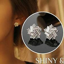 925 Sterling Silver Plated Windmill Ear Stud Earrings Women Jewellery Gift