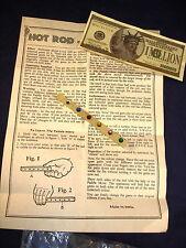 Vintage Hot Rod Magic Trick Mentalism Gems Nice! Antique!