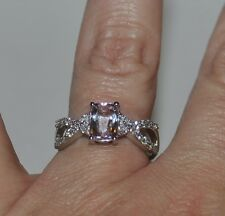 NEW!! Mawi Kunzite & White Topaz Sterling Silver Ring Size 9