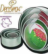 STAMPO TONDO DRITTO DECORA 20X10 PASTA DI ZUCCHERO CAKE DESIGN DECORAZIONE TORTE