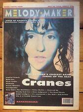 Melody Maker 28/7/90 The Cranes cover, Bananarama, Soundgarden, Mock Turtles