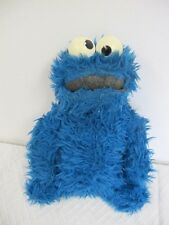 SESAME STREET VINTAGE PLUSH KNICKERBOCKER COOKIE MONSTER RATTLE 14""