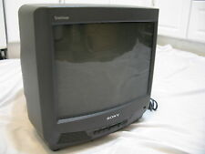 "SONY TRINITRON KV-13M40 13"" CRT COLOR GAMING TV TELEVISION MONITOR CCTV WORKS"