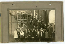 Antique Photo - 2nd Grade Class Group of Children Standing on Stairs Outside