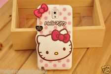 White Hello Kitty Bowtie Silicone Case & Metal Charm for Samsung GALAXY S5 i9600