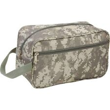 New Digital Camo Toiletry Bag Travel Shaving Kit Zippered Vanity Bathroom Tote