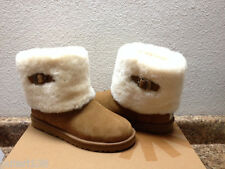 UGG ELLEE CHESTNUT MAYLIN SHEARLING CUFF  YOUTH US 5 - will FIT WOMEN sz US 7