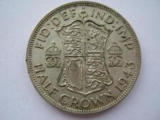 1943 silver Halfcrown, NEF.