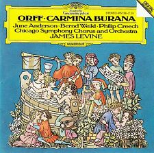 CARL ORFF : CARMINA BURANA / CHICAGO SYMPHONY ORCHESTRA - JAMES LEVINE / CD