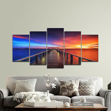 Canvas Print Picture Photo Colorful Sky Landscape Bridge Home Decor Art Framed