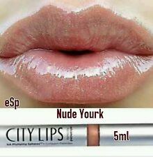 "City Lips Advanced Lip Plumper Fuller, Younger Lips  ""NUDE YORK"" 5ml Authentic"