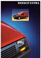 RENAULT EXTRA Van 1990-91 UK Opuscolo Vendite sul mercato 1.1 1.4 Catalyst 1.6d r5