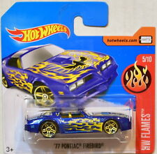 HOT WHEELS 2017 HW FLAMES '77 PONTIAC FIREBIRD #5/10 SHORT CARD