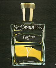 Publicité Advertising  1978  Parfum Y de YVES SAINT LAURENT  YSL