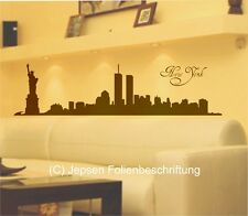 Wandtattoo NEW YORK Skyline 120x30cm N1 Freiheitsstatue Liberty Big Apple