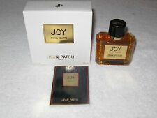 Vintage Jean Patou Eau De Joy Splash Bottle EDT in Box  - 2 OZ - Sealed/Full