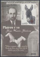 PRUEBA DE IMPRESION CALCOGRAFICA DE PLATERO Y YO - AÑO 2014