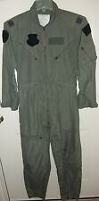 USAF USMC Sage Green Nomex Summer Flyer's Coveralls Flight Suit CWU-27/P 40R CPT
