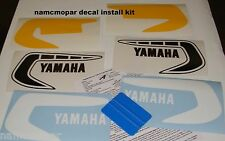 NEW 1981 Yamaha YZ 125H, 250H, 465H decal kit, step by step info with squeegee