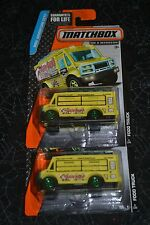 MATCHBOX ON A MISSION MBX ADVENTURE CITY FOOD TRUCK SET OF TWO