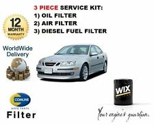 FOR SAAB 9-3 93 1.9 TiD DIESEL 2004-  SERVICE SET OIL AIR FUEL  ( 3 ) FILTER KIT