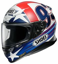 Shoei RF1200 RF 1200 Indy Marquez L Large Motorcycle Helmet Blue and Red