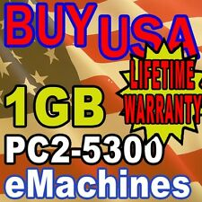 1GB PC2-5300 eMachines W3644 W5233 W5243 Memory Ram