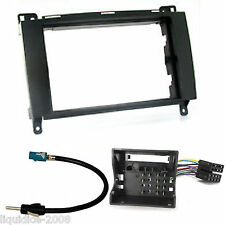 MERCEDES BENZ B CLASS W245 2005 ONWARDS BLACK DOUBLE DIN FASCIA FACIA ADAPTER KI