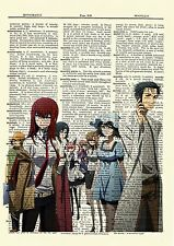 Steins;Gate Anime Dictionary Art Print Poster Picture Steins Gate Manga