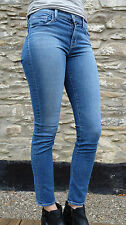 J BRAND 811 Mid Rise CONNECTED Blue Wash Skinny Leg Jeans, Size 27, UK 8/10