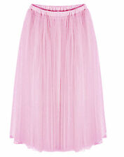 Women Teen Petticoat Ballerina Ballet Dancer Tulle Long Tutu Skirt Dance  051a