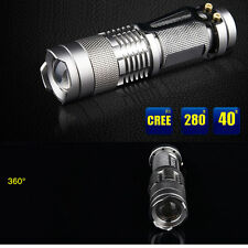 Super Power Tactical 1200lm CREE Q5 LED SA3 Zoomable Flashlight Torch ALTNUX
