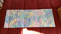 """Croscill Floral Blue Pink Yellow Gold Green 88""""W x 17 3/4""""L Curtain Valance"""