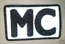 "(R) REFLECTIVE MC 3"" x 2"" iron on patch (3817) Motorcycle Club"