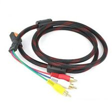 HDMI Video Adapter Converter Cable HDMI To 3 RCA Cable Red/Yellow/White/Black et