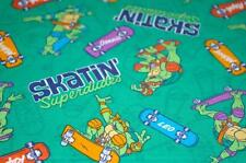 TMNT SKATIN SUPERDUDES TURTLES TOSSED COTTON FABRIC...CP52363...BTY NEW PRINT!!
