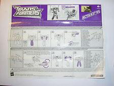libretto pieghevole istruzioni Transformer Animated Hasbro MEGATRON