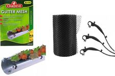 12M GUTTER MESH ROOF GUTTERING GUARD COVER TO STOP LEAF & DEBRIS CLOGGS BLOCKS