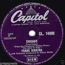CLASSIC FRANK SINATRA 78 CHICAGO / ALL THE WAY 1957 UK # 3 CAPITOL CL 14800 EX