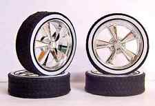 NEW Hoppin Hydros 1/18 scale BLVD Chrome Whitewall Wheels Tires Rims Model Cars